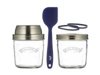 Surdeg starter Kilner® - 2x0,35 l - Glas - Silikon - RF - klar